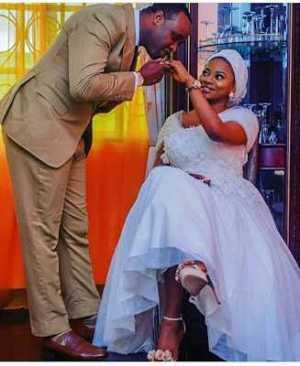 Lovely photos of actor Femi Adebayo & his new wife Maimunat